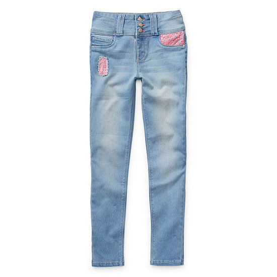 Squeeze Big Girls Mid Rise Skinny Fit Jean