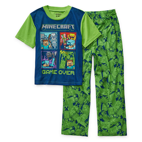 Little & Big Boys 2-pc. Minecraft Pant Pajama Set