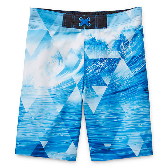 Arizona Boys Swim Little & Big Boys Waves Board Shorts