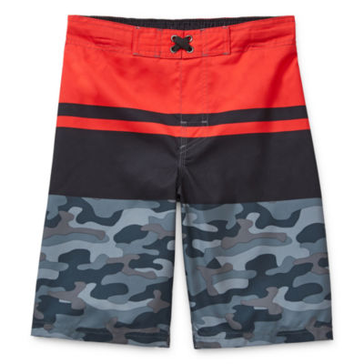 Arizona Boys Swim Little & Big Boys Camouflage Board Shorts