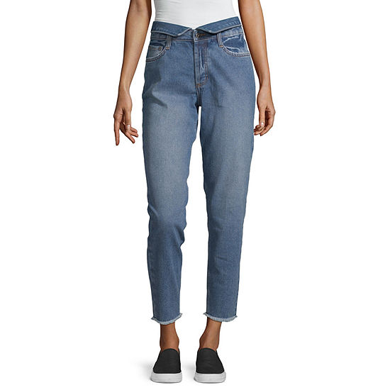 Arizona Womens High Waisted Straight Relaxed Fit Jean - Juniors