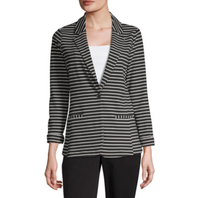 Worthington Womens Ponte Blazer