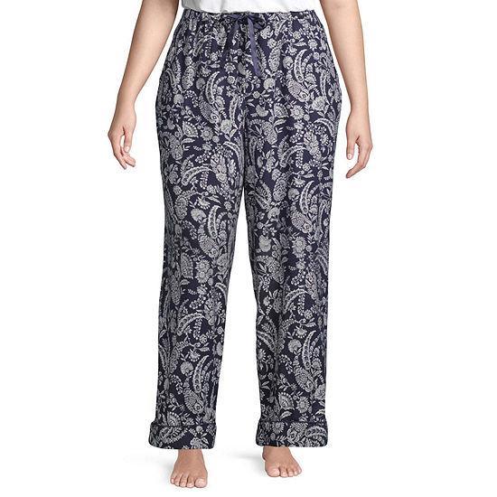 Liz Claiborne Womens-Plus Flannel Pajama Pants