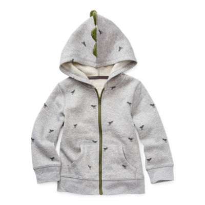 Okie Dokie Fleece Toddler Boys Cuffed Sleeve Hoodie