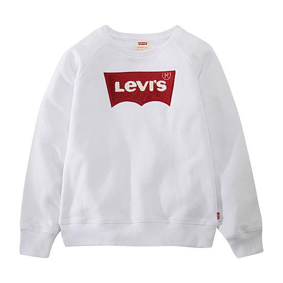Levi's Toddler Girls Crew Neck Long Sleeve Sweatshirt