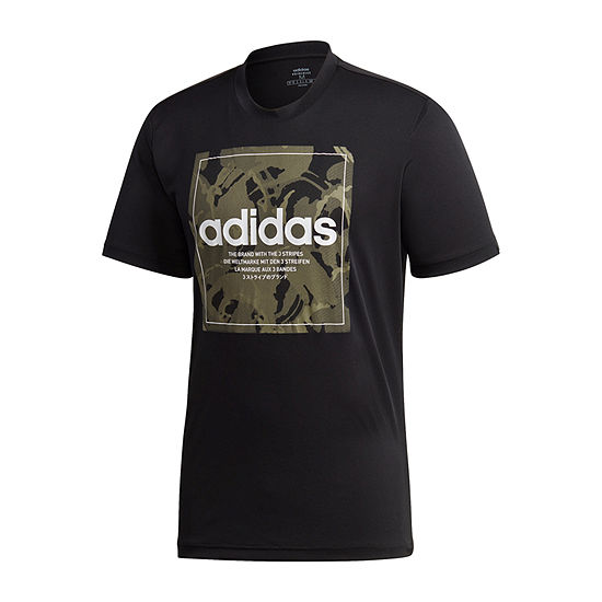 adidas Mens Crew Neck Short Sleeve Americana Graphic T-Shirt