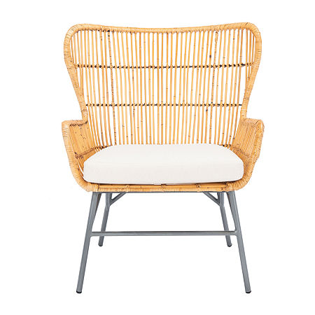 Lenu Rattan Accent Chair, One Size , Brown
