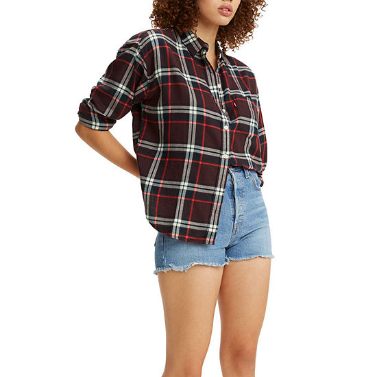Levi's Relaxed Womens Long Sleeve Flannel Shirt