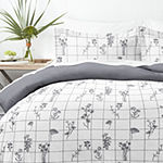 Casual Comfort Flower Field 3pc Hypoallergenic Reversible Duvet Cover Set
