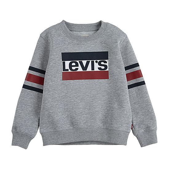 Levi's Toddler Boys Crew Neck Long Sleeve Sweatshirt