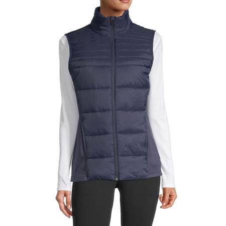 Xersion Women's Puffer Vest, Medium , Blue