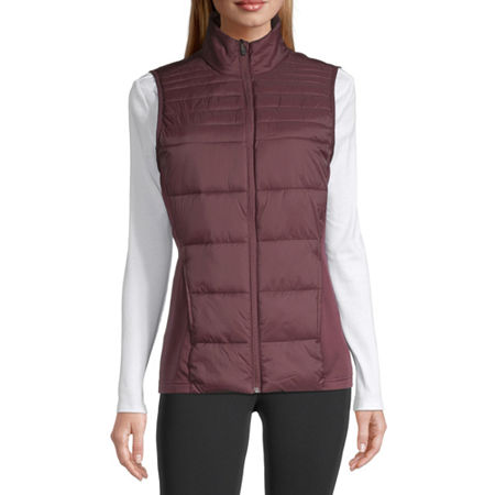 Xersion Women's Puffer Vest, Small , Red