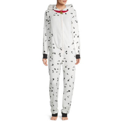 Disney Mjc Womens Plush 101 Dalmatians Long Sleeve One Piece Pajama