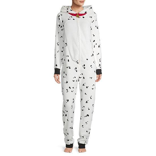Disney Mjc Womens Plush 101 Dalmatians Long Sleeve One Piece Pajama