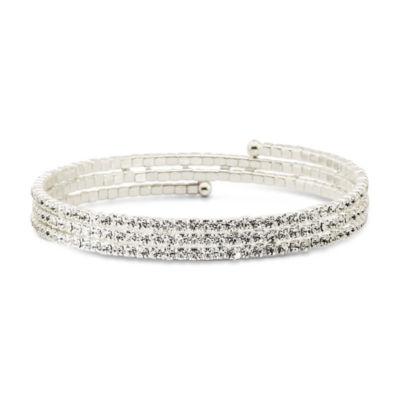 Vieste Crystal Triple-Coil Bracelet