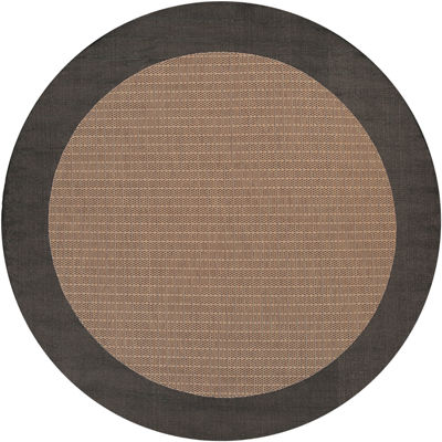 Couristan® Checkered Field Indoor/Outdoor Round Rug