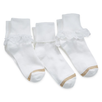 Gold Toe® 3-pk. Turn-Cuff Dress Socks - Girls