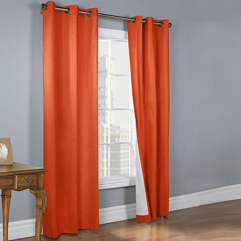 Weathermate 2-Pack Room-Darkening Grommet-Top Curtain Panels