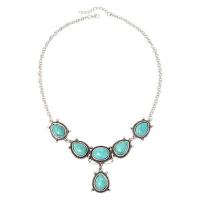Aris by Treska Aqua Stone Bib Necklace