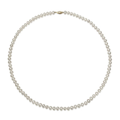 14K Yellow Gold Akoya Pearl Necklace 24