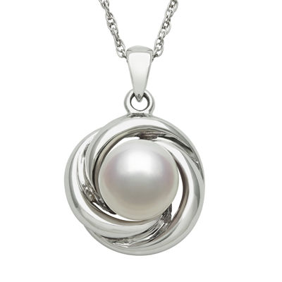 Sterling Silver Cultured Freshwater Pearl Pendant Necklace