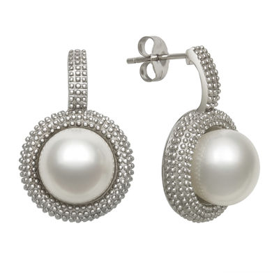 Sterling Silver Cultured Freshwater Pearl Earrings