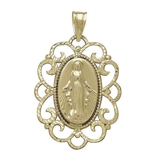 Tesoro™ 14K Yellow Gold Virgin Mary Prayer Pendant