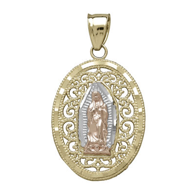 Tesoro™ Tri-Color Our Lady of Guadalupe Pendant