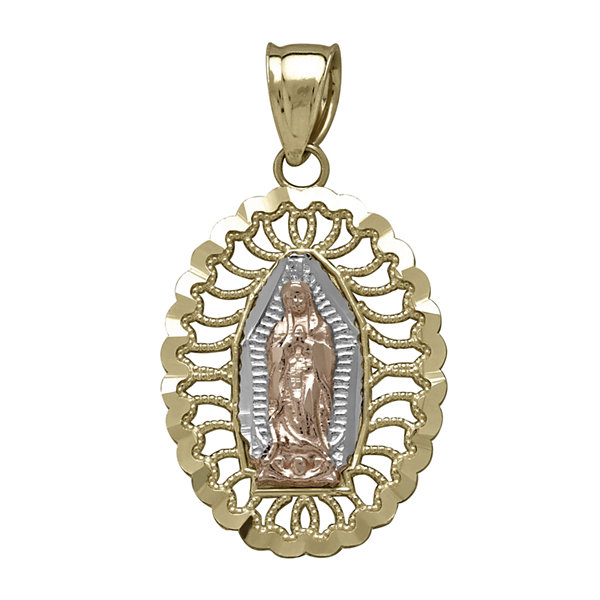 Tesoro™ 14K Tri-Color Our Lady of Guadalupe Pendant
