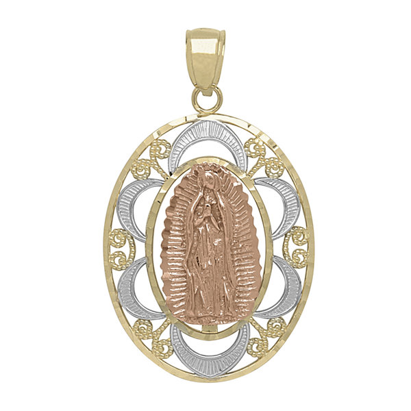 Tesoro 14k tri color gold our lady of guadalupe filigree pendant tesoro 14k tri color gold our lady of guadalupe filigree pendant mozeypictures Images