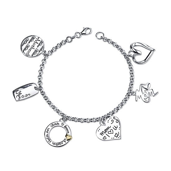 Inspired Moments Sterling Silver Mom Charm Bracelet
