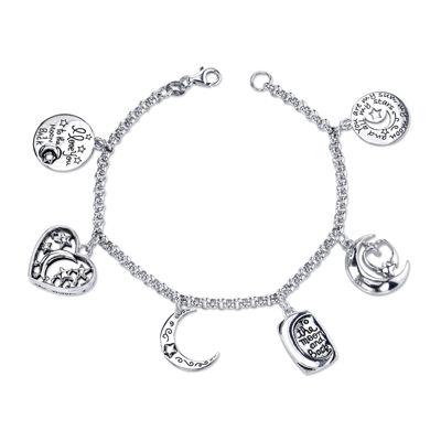 Inspired Moments™ Sterling Silver Love You to the Moon Charm Bracelet