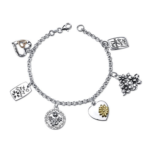 Inspired Moments™ Sterling Silver Daughter Charm Bracelet