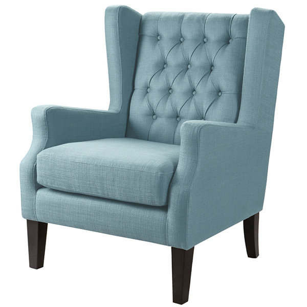 Madison Park Riddle Button-Tufted Wing Chair