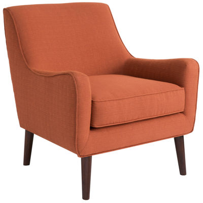 Madison Park Larry Curved Sloped-Arm Chair