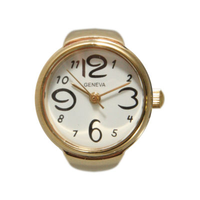 Olivia Pratt Ring Womens Gold Tone Strap Watch-15007gold