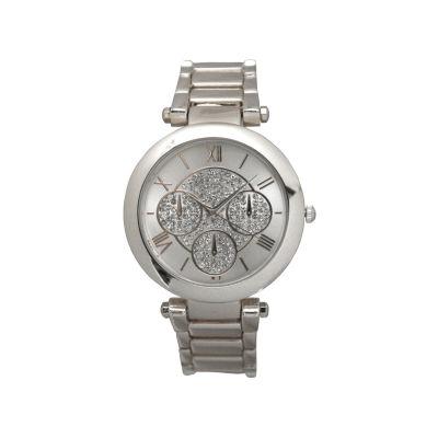 Olivia Pratt Womens Silver Tone Strap Watch-D60011silver