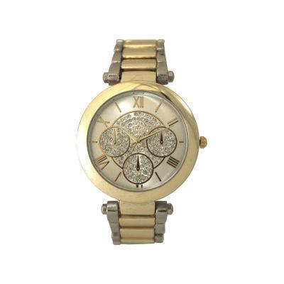 Olivia Pratt Womens Two Tone Bracelet Watch-D60011twotone