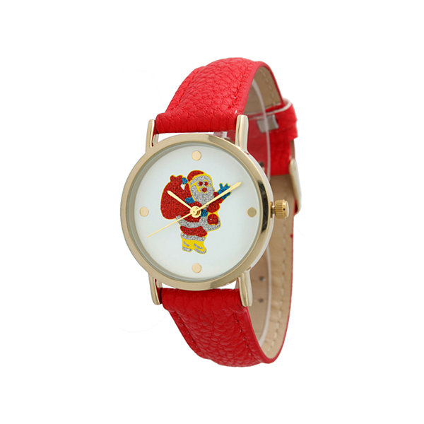 Olivia Pratt Holiday Womens Red Strap Watch-12791xred