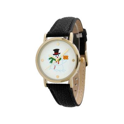 Olivia Pratt Holiday Womens Black Strap Watch-12791xblack