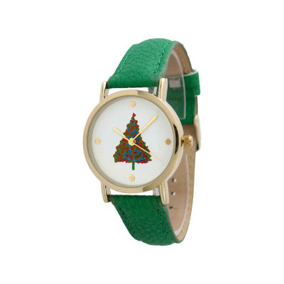 Olivia Pratt Holiday Womens Green Strap Watch-12791xgreen