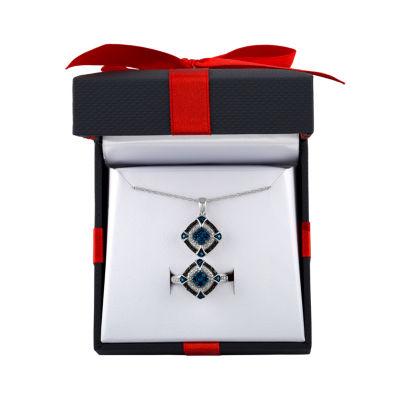 Womens 2-pc. Multi Color Diamond Sterling Silver Jewelry Set