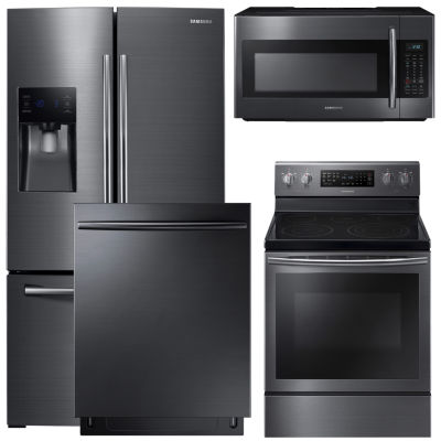 Samsung® 4-pc. Electric Kitchen Package-Black Stainless Steel
