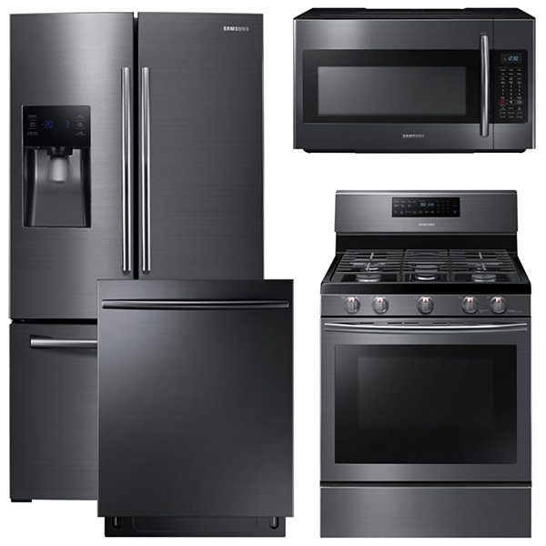 Samsung® 4-pc. Gas Kitchen Package- Black Stainless Steel