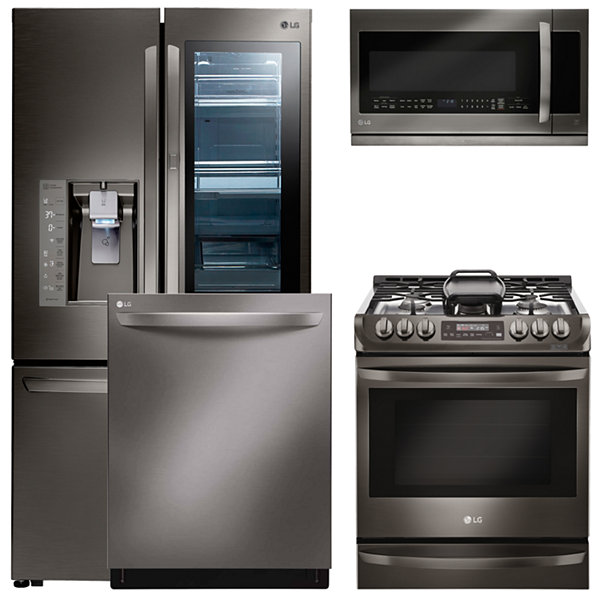 LG® 4-pc. Gas Kitchen Package-Black Stainless Steel