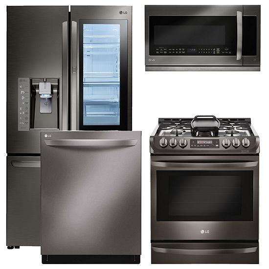 Lg lsg4513st 4 pc gas kitchen package black stainless steel gas kitchen package black stainless steel workwithnaturefo