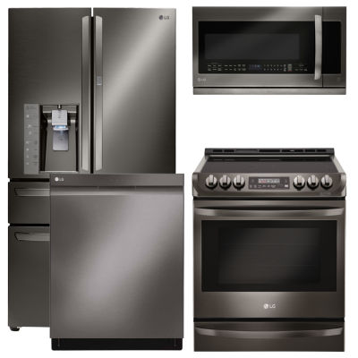 LG® 4-pc. Electric Kitchen Package-Black Stainless Steel