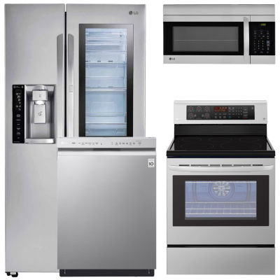 LG® 4-pc. Electric Kitchen Package-Stainless Steel