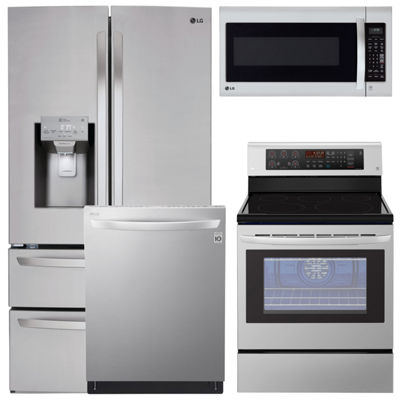 LG® 4-pc. Electric Kitchen Package- Stainless Steel