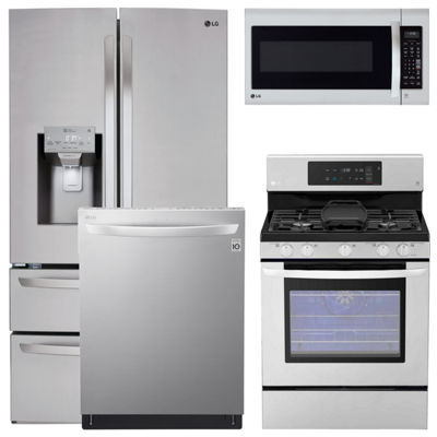 LG® 4-pc. Gas Kitchen Package-Stainless Steel